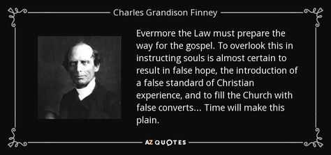 Finney quote on false converts