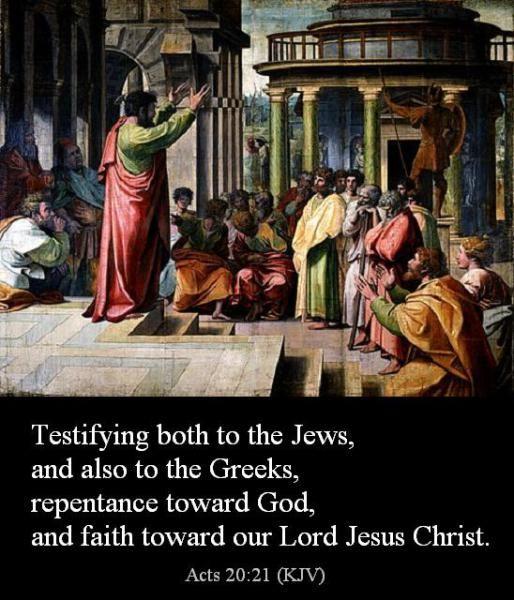 paul preaching repentance
