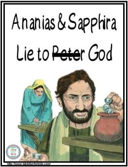 Ananias & Sapphira lie to God #Biblefun